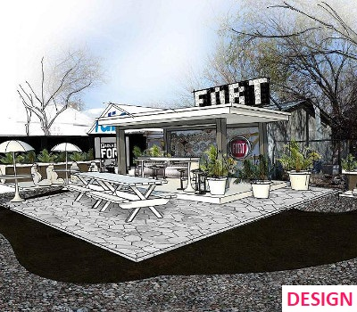 Pink Landscapes design plan for music event landscaping gig.
